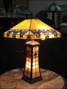 DUŻA, PIĘKNA LAMPA WITRAŻOWA TIFFANY 60 CM - zdjęcie 1
