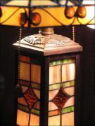 DUŻA, PIĘKNA LAMPA WITRAŻOWA TIFFANY 60 CM - zdjęcie 3