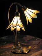 LAMPA WITRAŻOWA TIFFANY - ZACZAROWANY KWIAT - zdjęcie 1