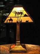 LAMPA WITRAŻOWA TIFFANY 35 CM - TAJEMNICZY  EGIPT - zdjęcie 1