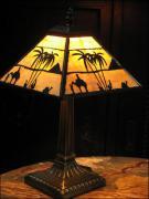 LAMPA WITRAŻOWA TIFFANY 35 CM - TAJEMNICZY  EGIPT - zdjęcie 2