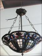 WISZĄCA LAMPA WITRAŻOWA TIFFANY - zdjęcie 5