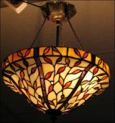 WISZĄCA  LAMPA WITRAŻOWA TIFFANY 40CM - zdjęcie 1