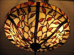 WISZĄCA  LAMPA WITRAŻOWA TIFFANY 40CM - zdjęcie 3