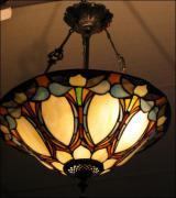 WISZĄCA LAMPA WITRAŻOWA TIFFANY 46CM - zdjęcie 1