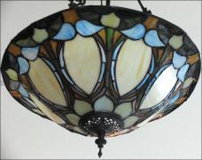 WISZĄCA LAMPA WITRAŻOWA TIFFANY 46CM - zdjęcie 3