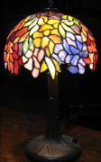 LAMPA WITRAŻOWA TIFFANY 40 CM GRA KOLORÓW - zdjęcie 1