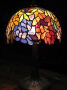 LAMPA WITRAŻOWA TIFFANY 40 CM GRA KOLORÓW - zdjęcie 3