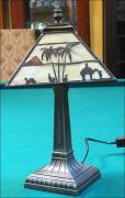 LAMPA WITRAŻOWA TIFFANY 39 CM AFRYKA - zdjęcie 2
