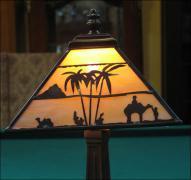 LAMPA WITRAŻOWA TIFFANY 39 CM AFRYKA - zdjęcie 3