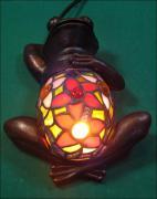 LAMPA WITRAŻOWA TIFFANY ŻABA - zdjęcie 1