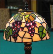 LAMPA WITRAŻOWA TIFFANY 33 CM  WINOGRONA - zdjęcie 3