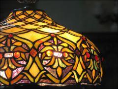 WISZĄCA LAMPA WITRAŻOWA TIFFANY - zdjęcie 2