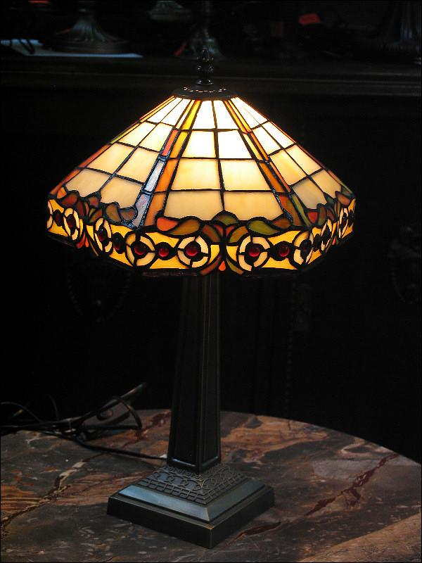 LAMPA WITRAŻOWA TIFFANY 47 CM