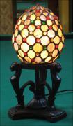 LAMPA WITRAŻOWA TIFFANY 28CM JAJO - zdjęcie 1