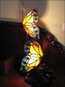 LAMPA WITRAŻOWA TIFFANY MOTYLKI - zdjęcie 1