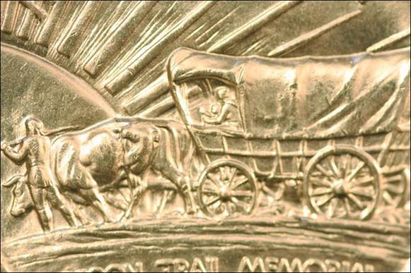 1938 - OREGON TRAIL - PÓŁ DOLARA AM.