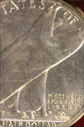 1936 - BRIDGEPORT - MS 63 - PÓLDOLARÓWKA USA