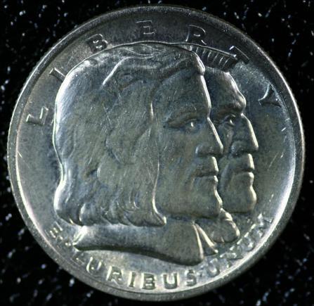 1936 - LONG ISLAND TERCENTENARY - PÓŁDOLARÓWKA USA