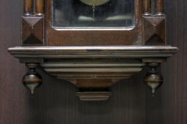 ZEGAR WISZĄCY - KWADRANSIAK SCHRAMBERG / po renowacji / - zdjęcie 4