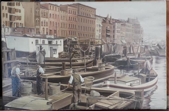 Obraz - łodzie na Odrze